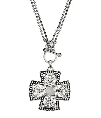 Dillard�s Scroll Collection Cross Pendant Necklace