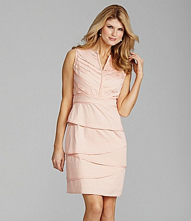 Antonio Melani Clara Tiered Sateen Dress