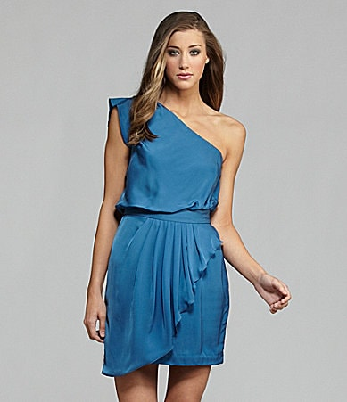 BCBGeneration One-Shoulder Charmeuse Dress