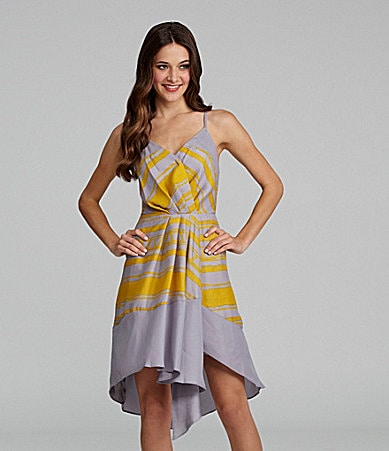 BCBGeneration Ruffle Hi-Low Dress
