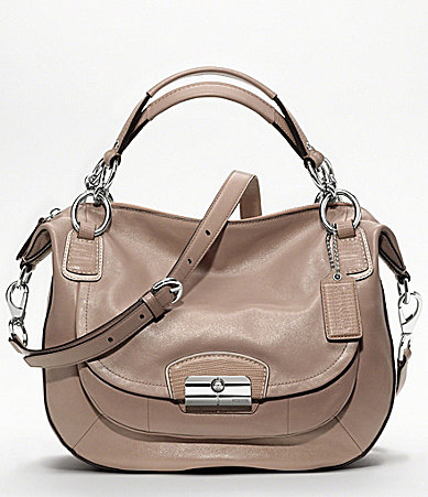 COACH KRISTIN LEATHER ROUND SATCHEL
