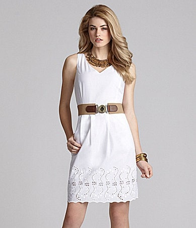 Cremieux Maria Belted Eyelet Dress