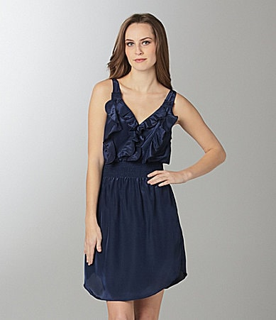THML Ruffle-Front Dress