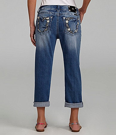 Miss Me Jeans Boyfriend Cropped Denim Jeans