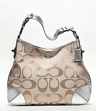 COACH PEYTON SIGNATURE SATEEN SHOULDER BAG