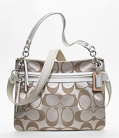 COACH POPPY SIGNATURE SATEEN HIPPIE