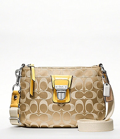 COACH POPPY SIGNATURE SATEEN SWINGPACK
