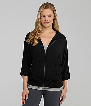 Half Moon By Modern Movement Dolman Sleeve Zip Hoodie Jacket