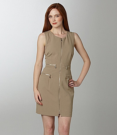 Laundry by Shelli Segal Zip-Front Dress