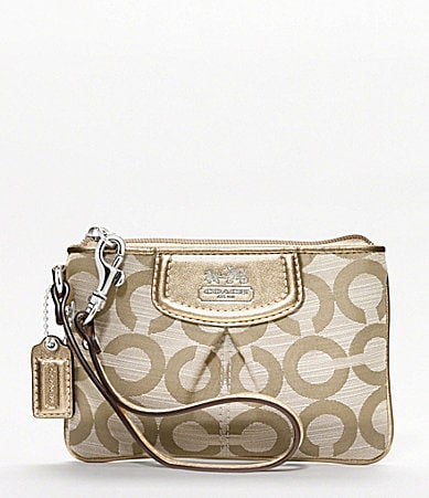 COACH MADISON SHANTUNG OP ART SMALL WRISTLET