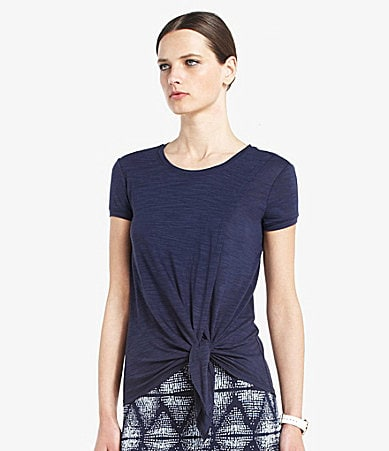 BCBGMAXAZRIA Kline Side-Tie Hem Top