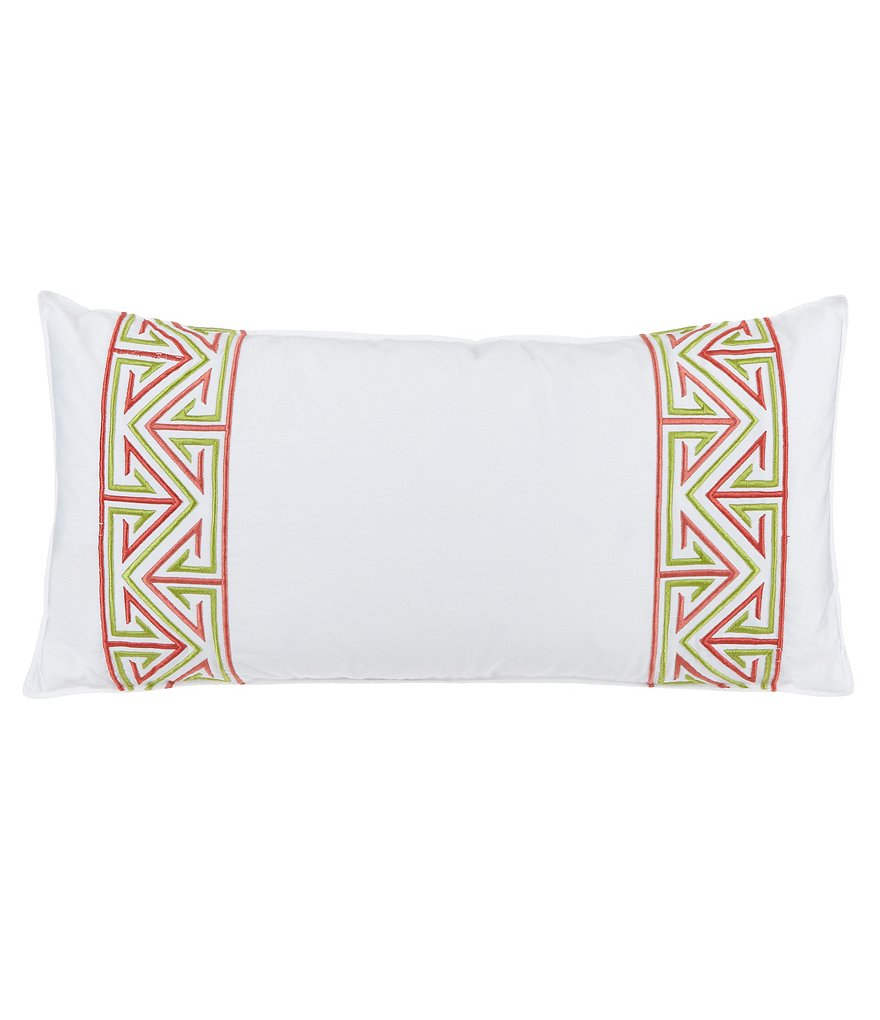 Trina Turk Trellis Embroidered Pillow