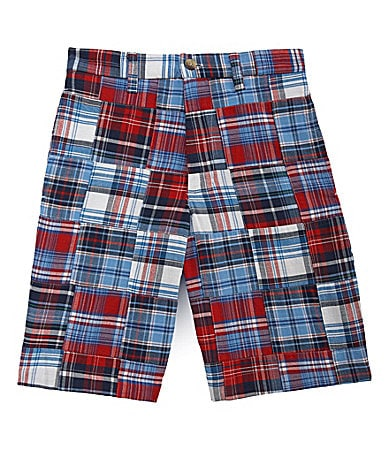 First Wave 8-20 American Plaid Shorts