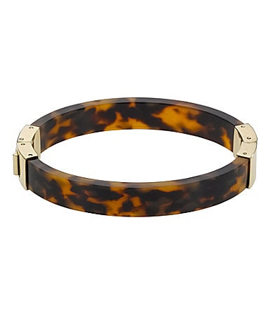 Michael Kors Tortoise Resin Hinge Bangle Bracelet