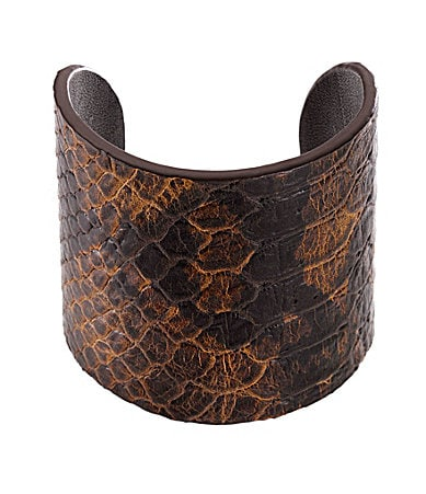 Michael Kors Embossed Leather Cuff Bracelet