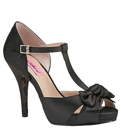 Betsey Johnson Canddee Peep-Toe Pumps