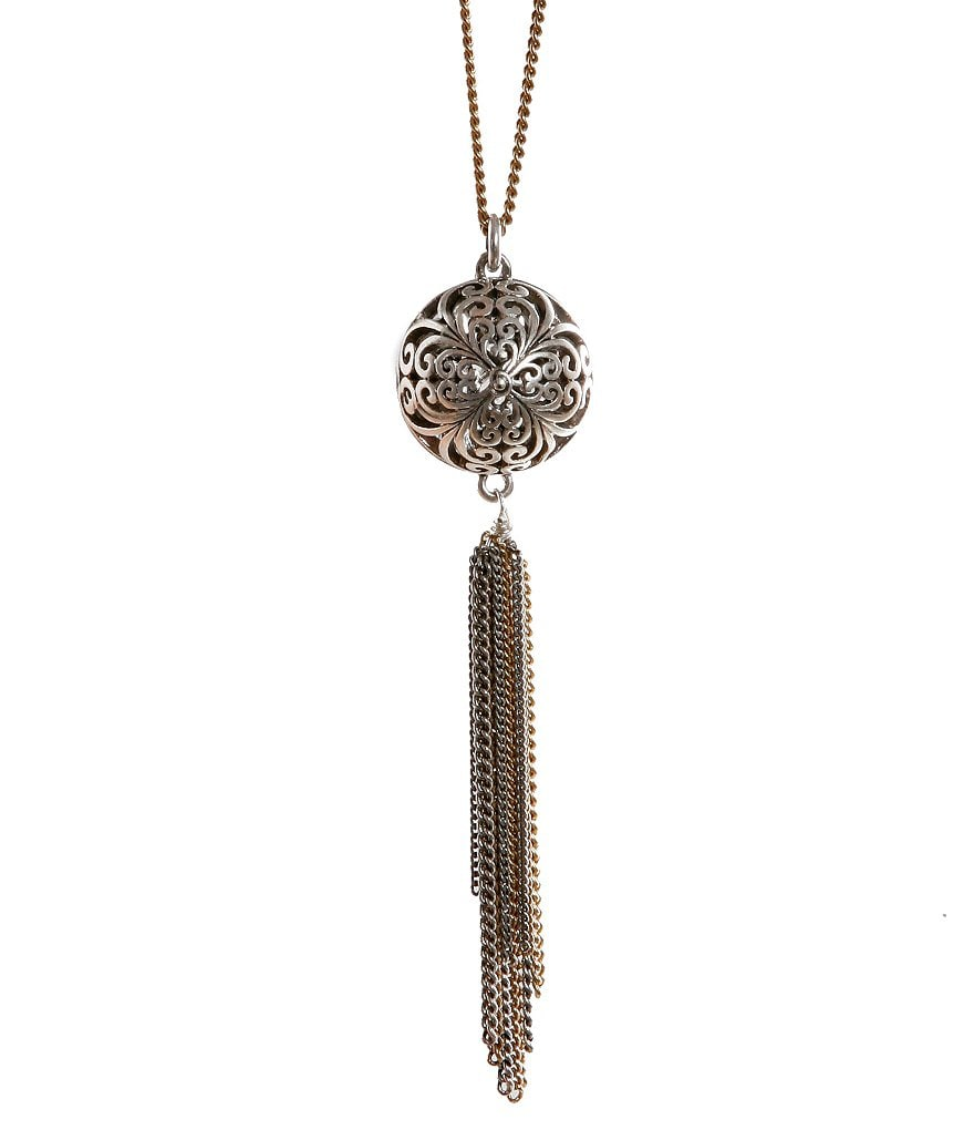 Lucky Brand Tassel Pendant Necklace