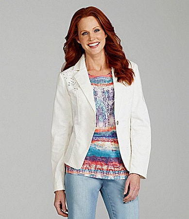 Reba One Button Blazer