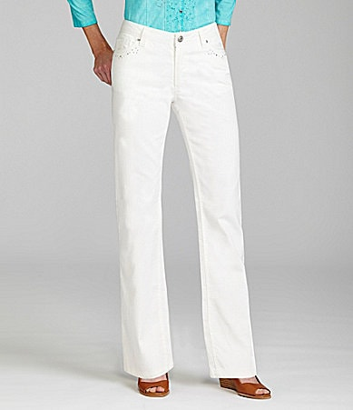 Reba Chelsea Embellished Five-Pocket Jeans