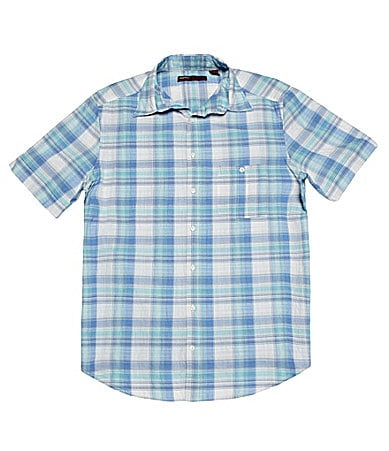 Perry Ellis Big & Tall Ombre Check Sportshirt