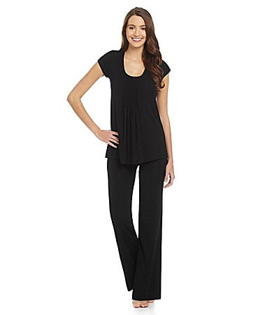 DKNY Seven Easy Pieces Solid Short Sleeve Top & Pants