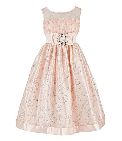 Love 7-16 Glittered Bubble Print Dress