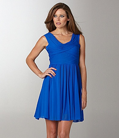 Vince Camuto Gathered Crisscross Dress