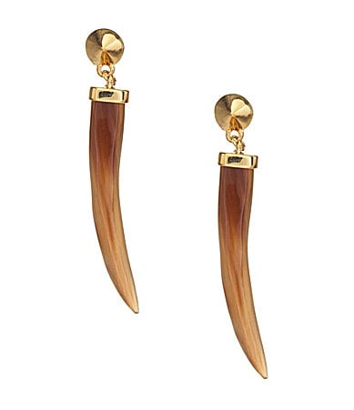 Vince Camuto Jungle Fever Horn Stud Drop Earrings
