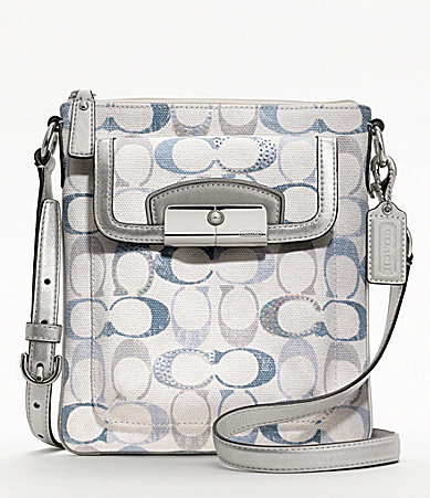 COACH KRISTIN EMBELLISHED SIGNATURE SWINGPACK