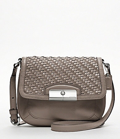 COACH KRISTIN WOVEN LEATHER FASHION CROSSBODY