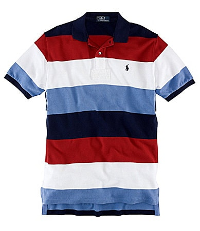 Polo Ralph Lauren Big & Tall Classic-Fit Bold Striped Mesh Polo Shirt