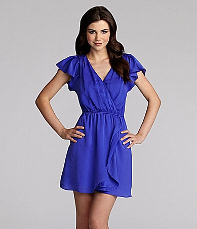 BCBGeneration Flounce Ruffle Dress