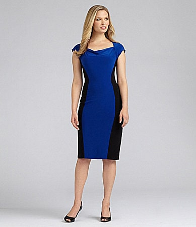 Jones New York Jersey Colorblock Dress