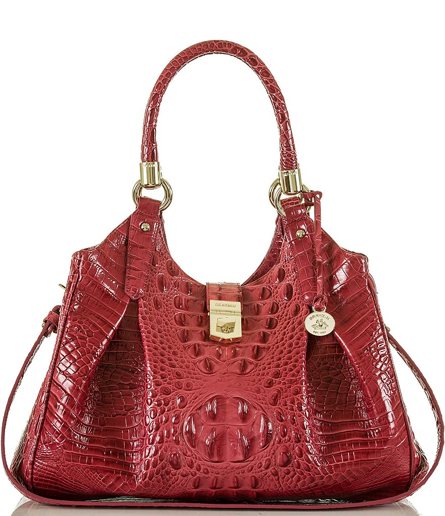 Brahmin Melbourne Collection Elisa Croco-Embossed Hobo Bag