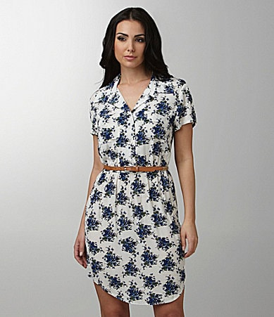 Kensie Floral Shirt Dress