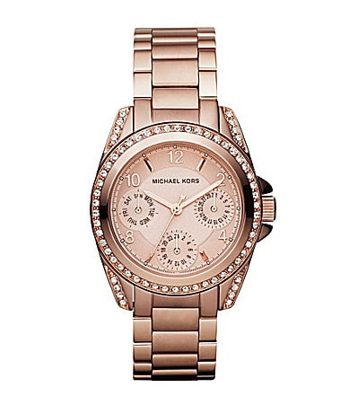 Michael Kors Blair Rose Goldtone Ladies Watch