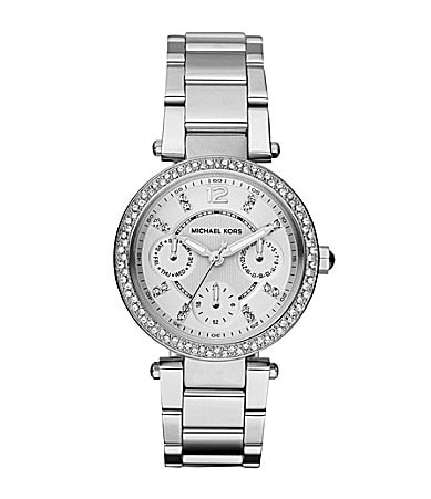 Michael Kors Silvertone Mini Parker Ladies Watch