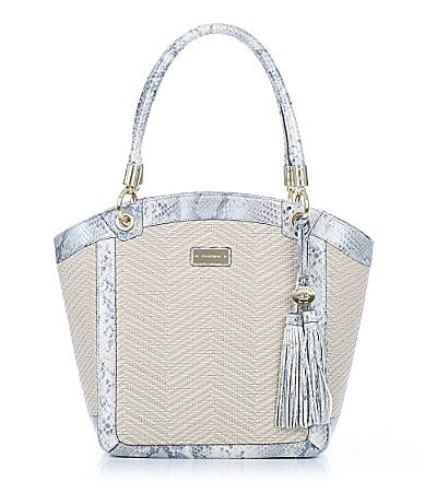 Brahmin Galerie Raffia Collection Libby Tote