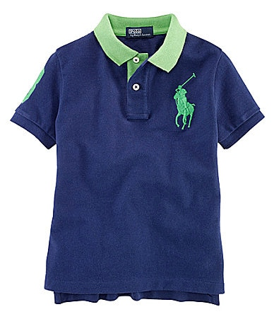 Ralph Lauren Childrenswear 2T-7 Contrast Mesh Polo Shirt