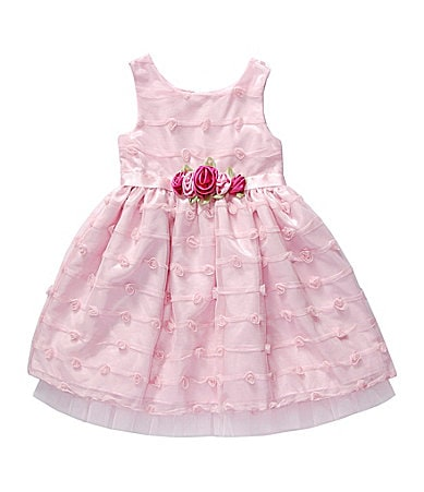 Sweet Heart Rose 2T-6X Rose-Appliqued Dress
