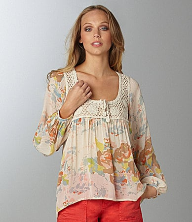 Sanctuary Clothing Rosewater Floral Blouse