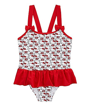 Hello Kitty 2T-6X 1-Piece Swimsuit