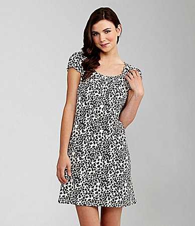 Jasmine & Ginger Woman Cheetah Print Sleepshirt