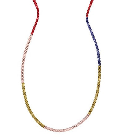 BCBGeneration Long Pink Colorblock  Necklace