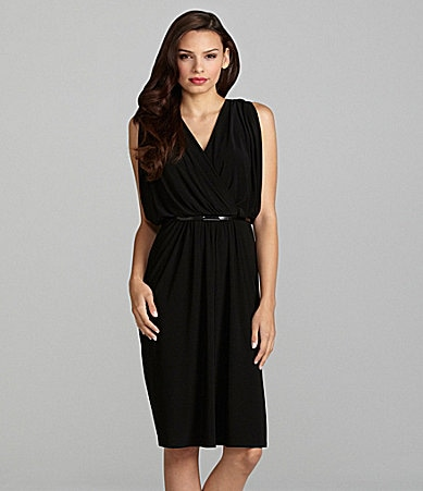 Jones New York Draped Matte Jersey Dress