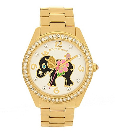 Betsey Johnson Goldtone Elephant Watch