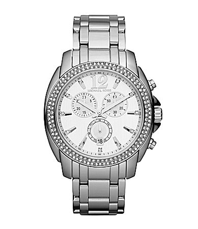 Michael Kors Cameron Silvertone Ladies Chronograph Watch