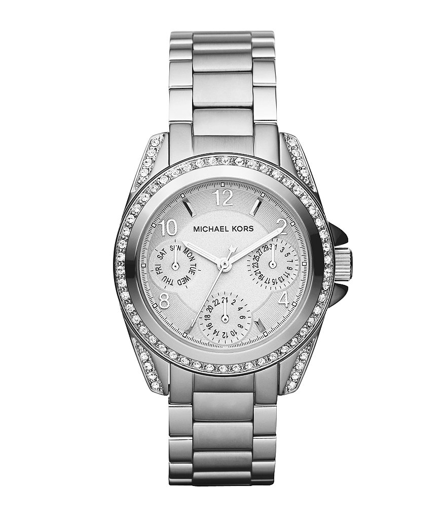 Michael Kors Blair Silvertone Chronograph Ladies Watch