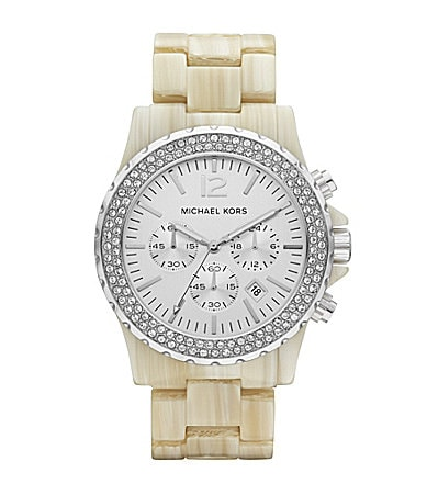 Michael Kors Madison Glitz Faux Horn Ladies Watch