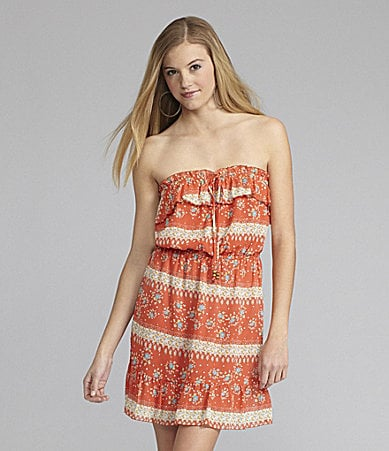 GB Strapless Printed Dress